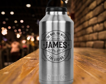 RTIC 64 oz Growler/Double Wall Stainless Steel/Beer/Craft Beer/Man/Myth/Legend/Monogram/Personailzed/Christmas Gift/Gifts for Him/Fast