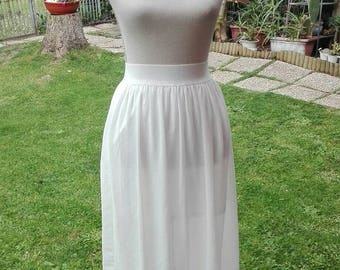 Skirt OUTLET! Shabby chic vintage white lace sensual sexy silk wedding dress 80s chic wedding woman