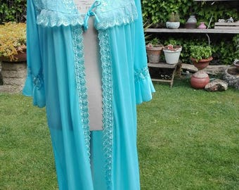 Shabby chic light blue robe