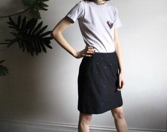 80s Escada Studded Mini Skirt