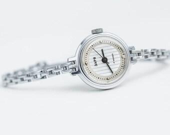 Ladies bracelet watch Zaria – vintage classic watch womens –tiny mechanical watch women – gift for her USSR 70s