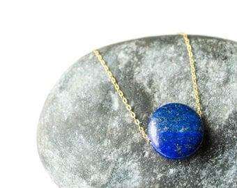 Lapis lazuli necklace, Blue lapis necklace, Lapis lazuli necklace gold, Gold lapis necklace, Cobalt blue, Blue stone necklace, Blue lapis