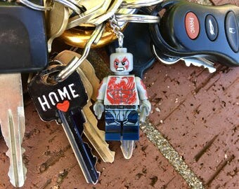 Marvel Guardians of the Galaxy Drax The Destroyer Mini-figure Key Chain With Custom Gift Box