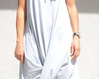 Hooded ivory tunic, draped cotton dress, plus size clothing, loose tunic top, asymmetric dress, summer collection for plus sized women