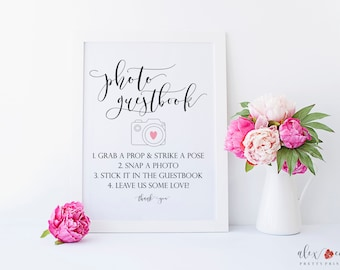 Photo Guest Book Sign. Wedding Guestbook Sign. Wedding Photo Booth Sign. Photobooth Sign. Instant Photo Book Sign. Wedding Guest Book Sign.
