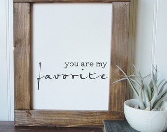 you are my favorite/valentines day/wall art/canvas print/laurel wreath/canvas wall art/wall decor
