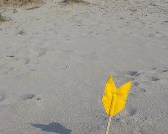 Yellow Felt Arrow MERRYWEATHER Pencil Topper, Yellow Arrow, Vegan