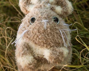 Rabbit Mouse Plush-Rabbit Plush-Mouse Plush-Rabbit-mouse-Brown-Gray-sock plush