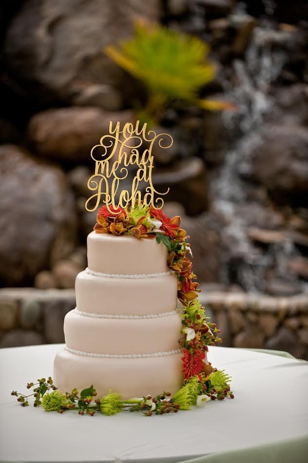 tropical wedding cake toppers you had me at aloha cake topper wedding cake topper 21280