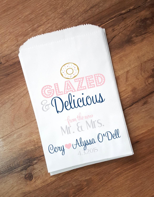 Wedding Favor Donut Bags : Doughnut Wedding Favor Bags Candy Buffet Bags Personalized