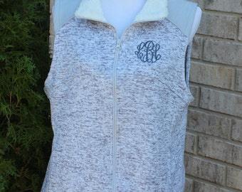 Monogrammed Sweater Knit  Vest---CLOSEOUT---SAVE 5 Dollars----In Stock ONLY!