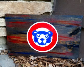 Stained Wooden Cubs Sign
