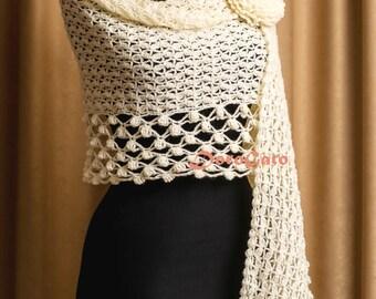 Crochet shawl pattern, crochet Stole pattern, Women crochet shawl, crochet lace scarf pattern, crochet pattern shawl, Instant Download /1031