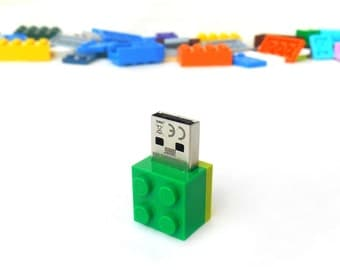 Lego usb flash drive 16GB USB - Lego® original usb Brick - Lego® 2x2 Brick - Lego® usb in original piece - Green lime brick - Original Lego