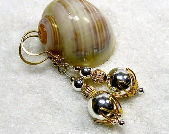 Silver & Gold Plated Drop Earrings