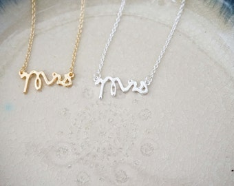 Bride Necklace, Mrs. Necklace, Wedding Necklace, Newlywed Necklace
