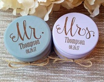 Mr and Mrs Ring Box   Ring Bearer Box   Custom Wedding Ring Boxes   Set of Two   Wooden Ring Box   Wedding Gift,  Engraved   Custom Names
