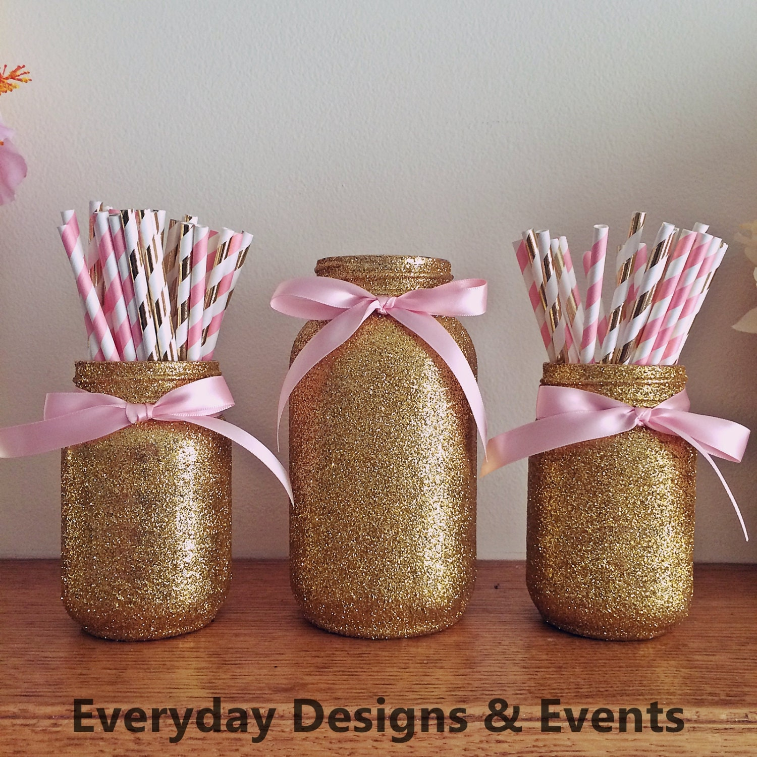 Mason Jar Centerpiece baby shower ideas baby shower