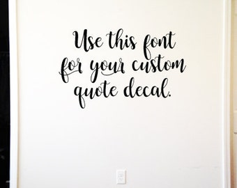 Removable wall decal Etsy