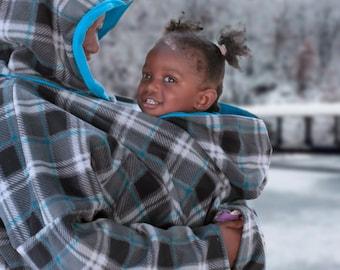 baby wearing coat -baby wearing jacket -baby wearing hoodie -baby shower gift -baby carrier fleece cover - baby carrier accessories - custom