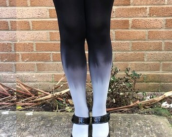 Kendall Smokey Sky Ombre Dip Dye Lingerie Tights