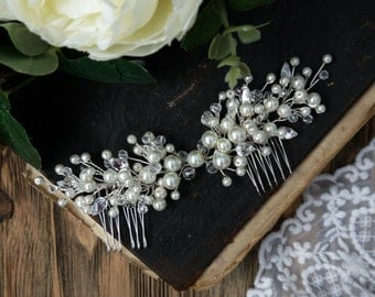 Pearl Bridal Hair Comb, Pearl Bridal Headpiece, Wedding hair jewelry, Wedding headpiece, Wedding hair comb, Wedding hair piece