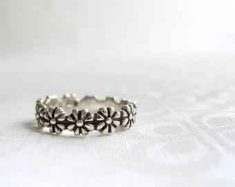 Sterling silver ring Etsy