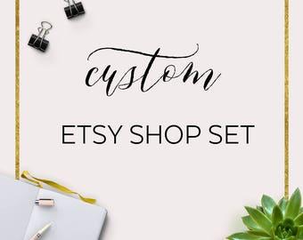 Custom Etsy Shop  Custom Etsy Shop Branding  Branding Logo Design  Custom Boutique Branding  Branding Logo Design for Shop Owner