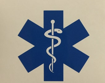 EMT Decal - EMT Response Sticker - Emergency Medical Technician Decal - EMT Yeti Decal -Paramedic Sticker