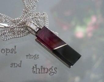 Rhodolite Garnet Pendant, Garnet Pendant, Rhodolite Garnet Necklace, Jet Pendant, Whitby Jet Pendant, Garnet Jewellery, Garnet Jewelery