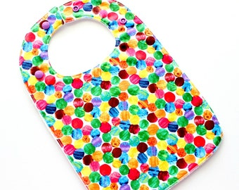 Baby bib - very hungry caterpillar,  baby bibs for boys or girls,