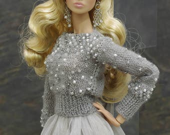 by GEMINI ~ PRE-ORDER knitted sweater clothes outfit fashion dress for Fashion Royalty FR2 Poppy Parker Momoko