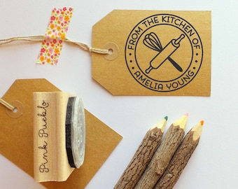 Personalized Baking and Cooking Rubber Stamp, From the Kitchen of Stamp