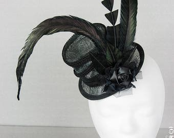 Unique steampunk Sinamay hat for the Victorian Lady