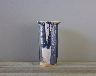 Vintage studio pottery vessel | handmade stoneware vase