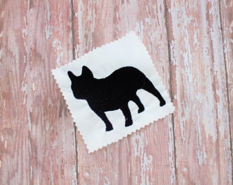 Dog Machine Embroidery Pattern - French Bulldog Embroidery Design - Embroidered Bully File -  Instant Download