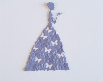 Lady in an Embossed Dress Die Cuts