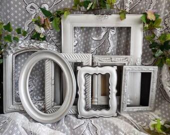 Silver Frame Set FREE SHIPPING, Picture Frame Photo Collage, Ornate Baroque, Wedding, Nursery 8X10, 5X7, 4X6.  Home Decor, Wedding, Nursery