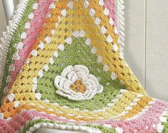 Instant Download - PDF- Cute Baby Blanket Crochet Pattern (CB74)