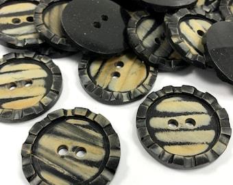 "8 Pieces Set Vintage Look Natural Horn Button- 1.2"" Button-Big Button- Jacket Buttons- Buttons- Big Buttons- Organic buttons-Horn Buttons"
