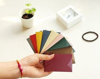 40 pcs Glossy Mini Envelopes Small Paper Envelope Wedding Invitation C0076