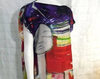 Disorder Original Art ' Stained Glass' Tunic Dress