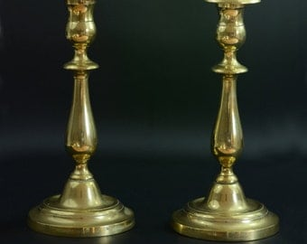 A Pair of bronze French 19th Century Candlesticks