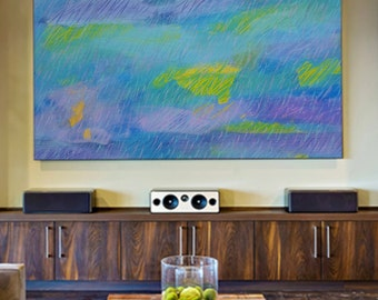 Extra Large Painting, Acrylic Painting,Giclée Print, Large Canvas, Wall Art, Abstract Painting, Modern Wall Art, blue, yellow, green, purple
