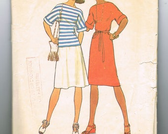 Kimono Sleeve Shirt Pattern, Dress Pattern, for Stretch Knits, Elbow Length Sleeves,  Size Large 16 - 18, Bust 38 - 40 In, Simplicity 7544