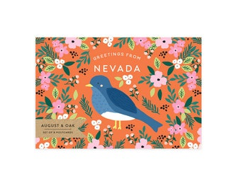 Nevada State Bird Postcard - Set of 8