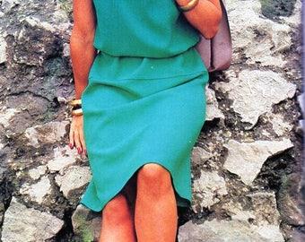 womens shift dress sewing pattern PDF chart / graph pattern to make ladies dress 92cm pdf instant download