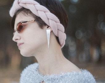 Turban Ear Warmer Headband.  Knitted Ear Warmer, Knitted Head Band.