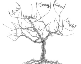 Handmade and Personalized Family Tree