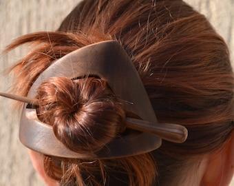 Hair Barrette, geometric hair clip, Shawl Pin, Hair Bow, Barrette, Hair Pin, Hair Stick,Slide, Wooden Shawl Pin,Hair Comb,Carving